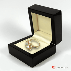 White Stone Zircon Ring - Gold