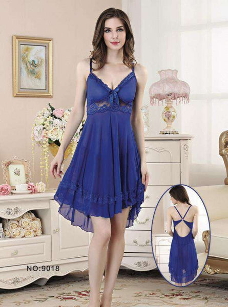 Blue Women Short Nighty