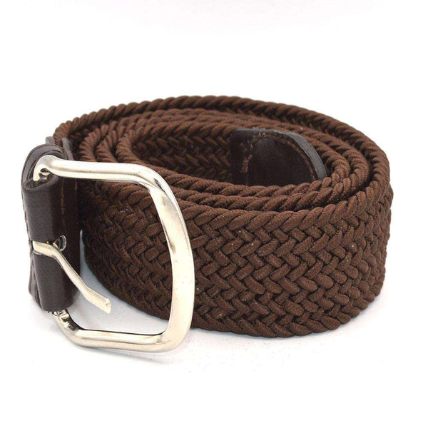 Brown Stretchable Belt For Boys