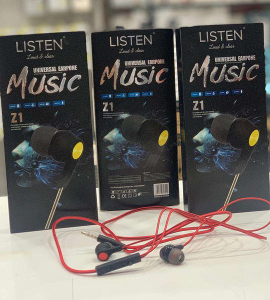 Earphone Z1 Extra Bass Stereo Hands free with Micro phone