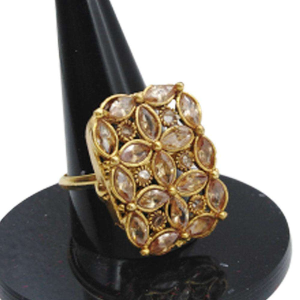 Attractive Flower Shape Gold Ring