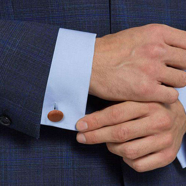 Oval Brown Stone Cufflinks