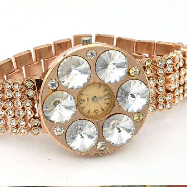 Dazzling Copper Chain Style Watch