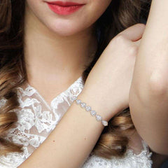 White Crystal Stone Bracelet For Girls