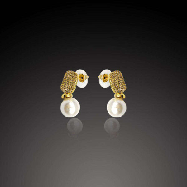 White Crystal Stone Earrings For Women