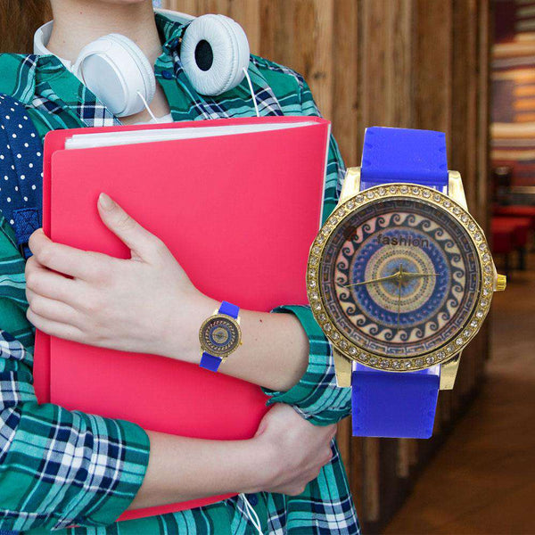 Astonishing Blue Strap Watch For Girls