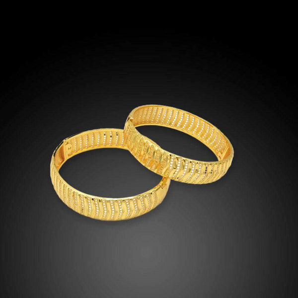 Set of 2 Curvy Design Bangles For Women