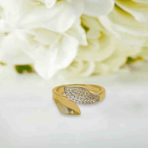 Single Leaf Design Ring For Girls