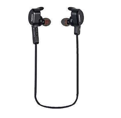 RB-S5 Wireless Bluetooth 4.1 Magnetic Adsorption Sweat proof Sports Lock Ear Shape Headset - Black