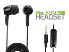Black Hands Free Stereo Soft Earbuds