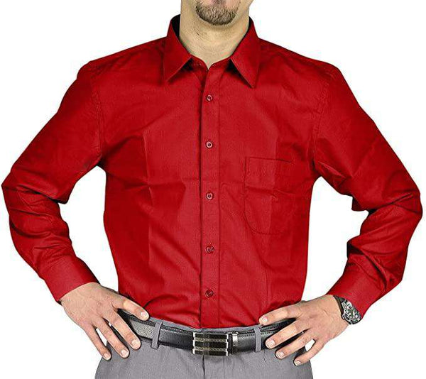 Office Shirt Cotton Red