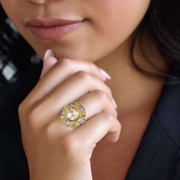 Trendy Gold Ring For Girls