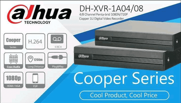 DAHUA SERIES COOPER 16 CHANNEL Pentabrid XVR 1B16 Support H.265 MOBILE VIEW 1080P ORIGNAL DVR