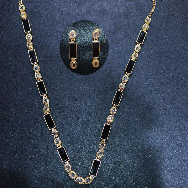 Black Stone Necklace Set