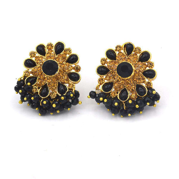 Black Stone Ear Rings