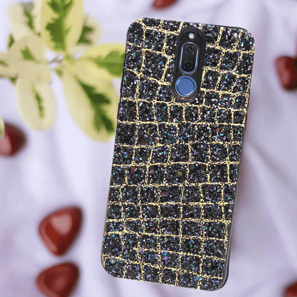 Glittery Golden Black Case For Mate 10 Lite