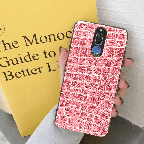 Glittery Golden Pink Case For Mate 10 Lite