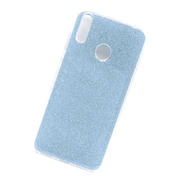 Glittery Light Grey Cover For Y7 Prime 2019