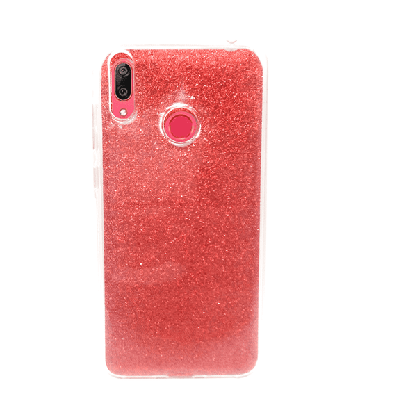 Glittery Red Cover For Y7 Prime 2019