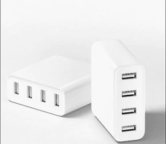 4 USB Port Fast Charger - White