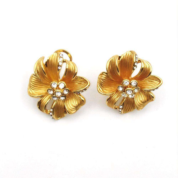 Classic Gold Color Crystal Earrings