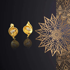 New Design Gold-color Charm Earrings