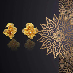 High Quality Golden Color Earrings For Women