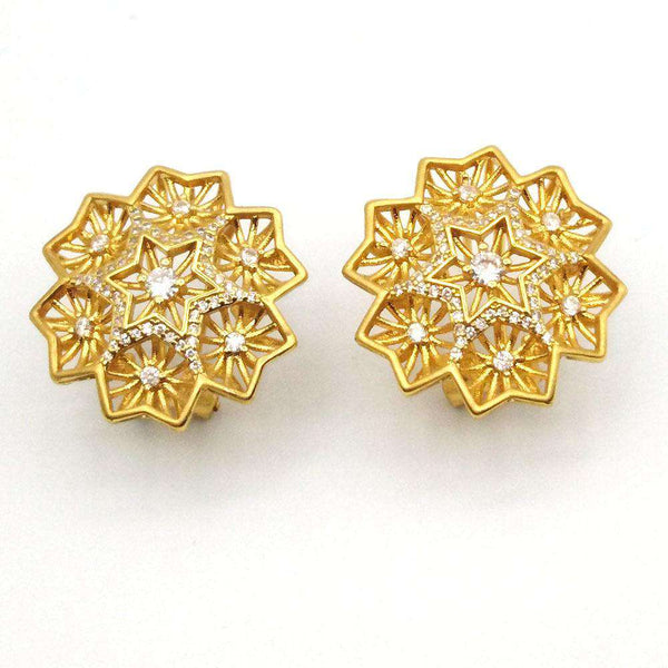 Gold Quadrilateral Golden Earrings