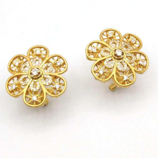 Shining Gold Silver Color Rhinestone Earrings