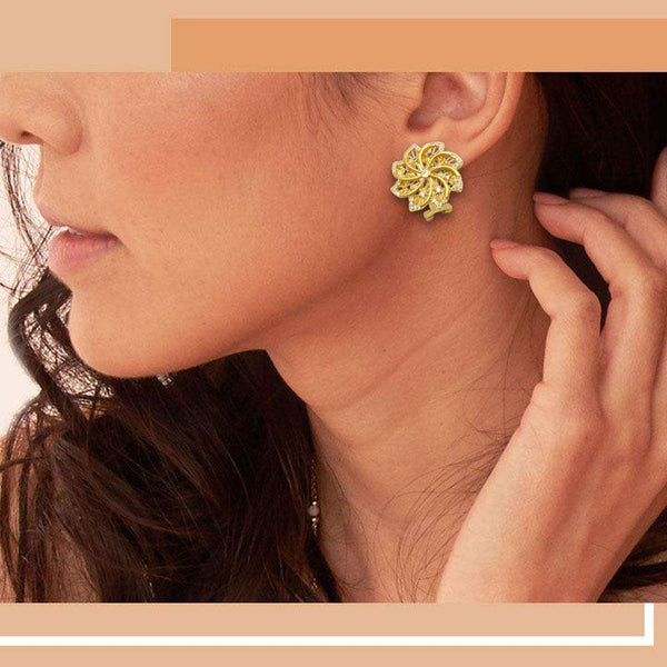 Stylish Golden Color Earrings For Women