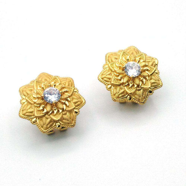 New Vintage Gold Color Statement Earrings