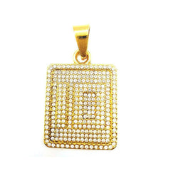 10 Number Style Square pendant