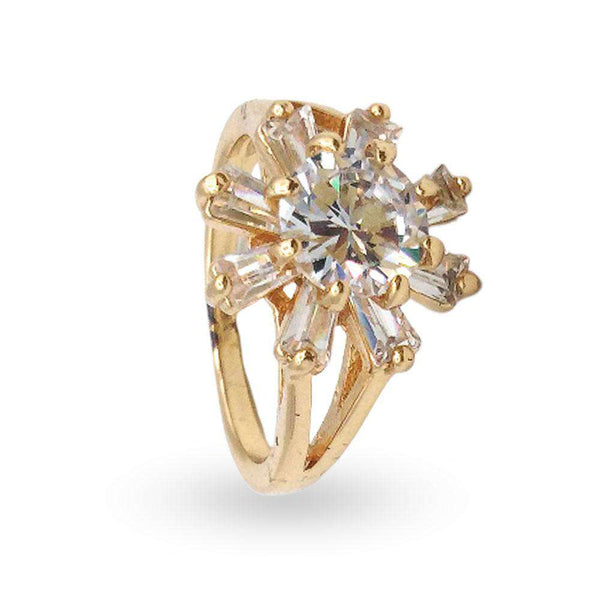 Stylish Crystal Star Ring