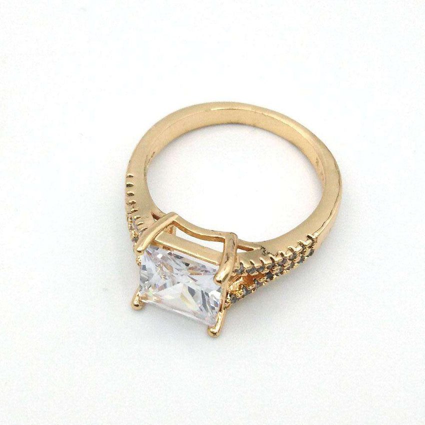 Single Stone Square Design Ring
