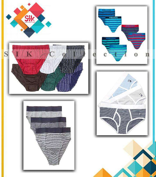 Pack Of 3 - Branded Printed Cotton Boxer Shorts For Men