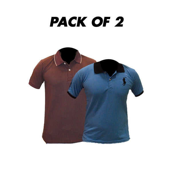Pack Of 2 T-Shirts Collar Neck
