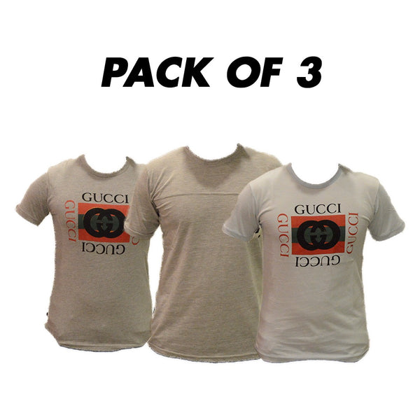 Pack Of 3 T-Shirts Round Neck