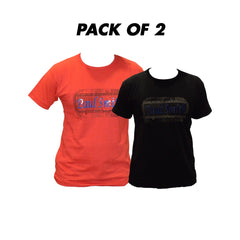 Pack of 2 T-Shirts Round Neck