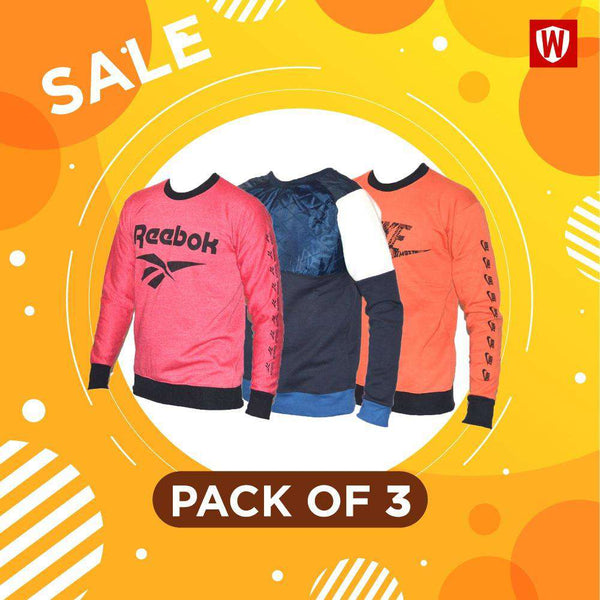 Pack Of 3  Sweatshirts