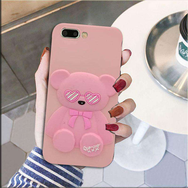 Pink Bear Case For A3S