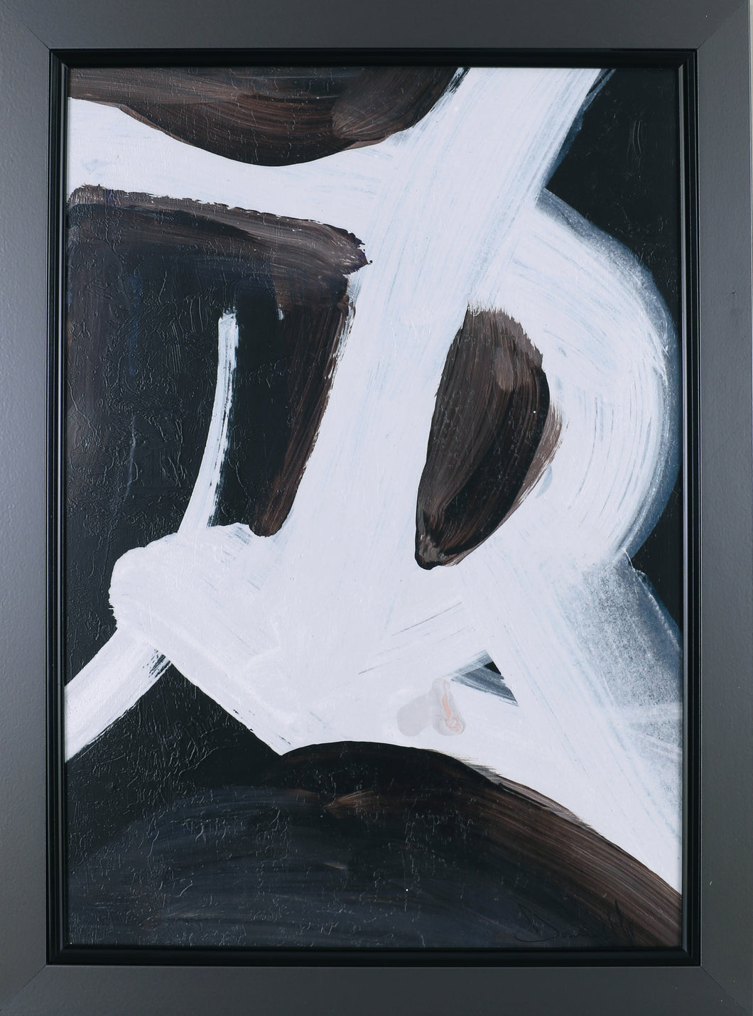 22.75X30.75 ABSTRACT LETTERS I (FRAMED STUCCO)