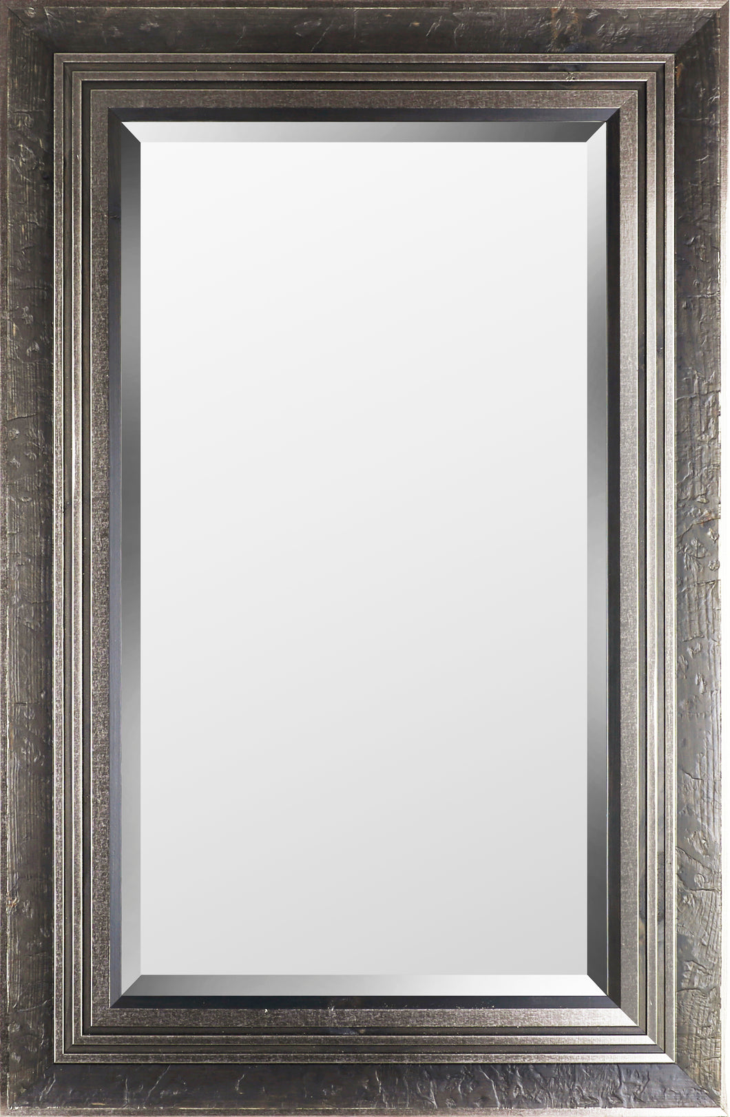 29.25X45.25 SILVER STUCCO WOOD (BEVEL MIRROR)