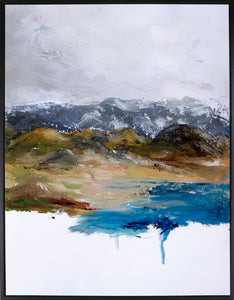 31.25X41.25 ACRYLIC PAINTING LAND SCAPE