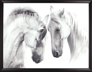 33.5X43.5 HORSE COUPLES (FRAMED LAMINATE)