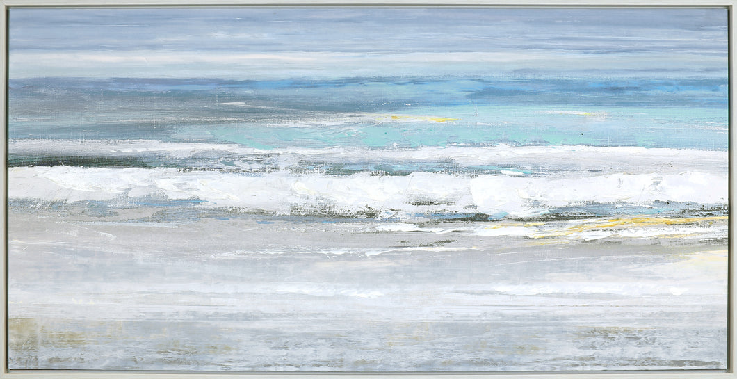 31.75X61.75 SEA SHORE (FRAMED ACRYLIC PAINTING)