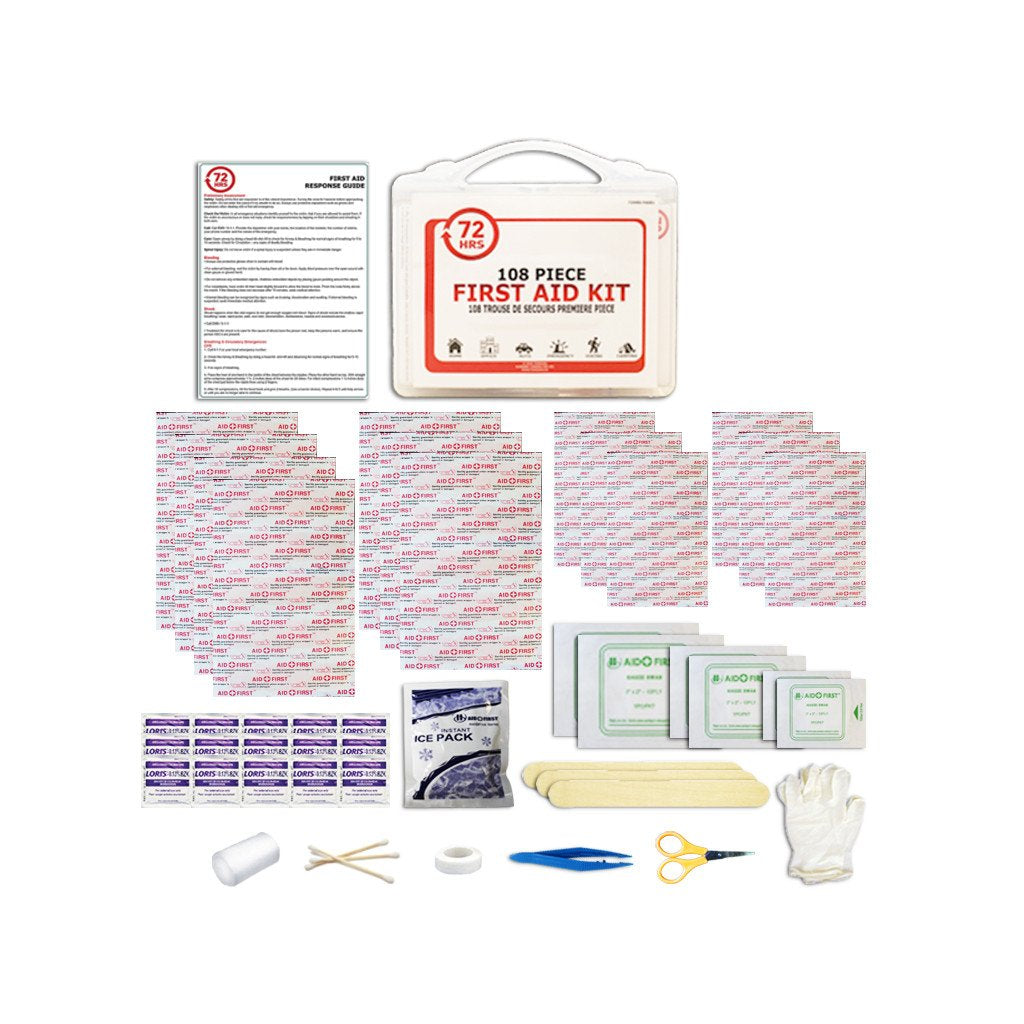 72HRS 108 Pcs First Aid Kit
