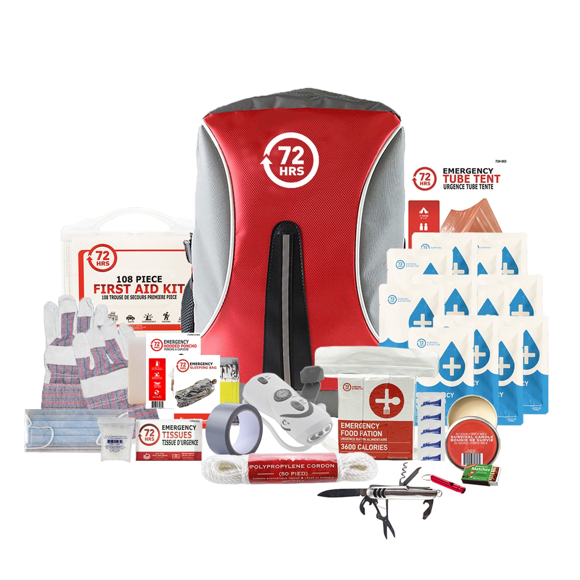 1 Person 72HRS Deluxe Backpack - Emergency Survival Kit