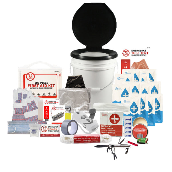 1 Person 72HRS Deluxe Toilet - Emergency Survival Kit