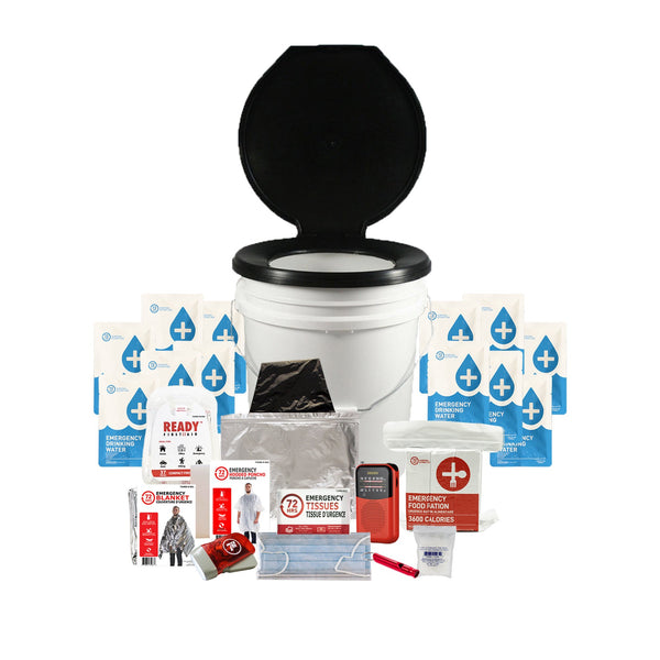 1 Person 72HRS Essential Toilet - Emergency Survival Kit