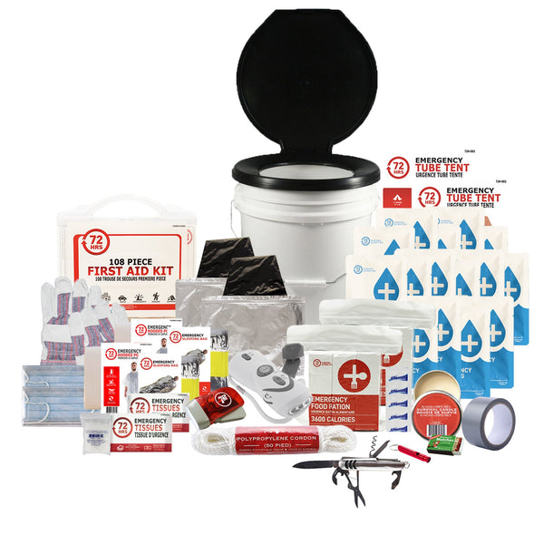 2 Person 72HRS Deluxe Toilet - Emergency Survival Kit
